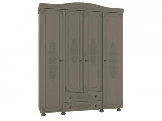 Распашной шкаф в спальню Грей  - Мебельная фабрика «Компасс»