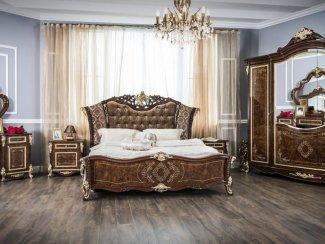 Спальня Оливия корень дуба глянец - Мебельная фабрика «Эра»