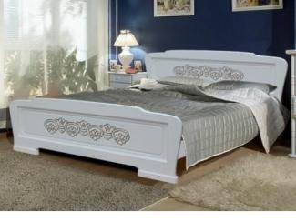 Белая кровать Клеопатра 1 - Мебельная фабрика «Мебельный комфорт»
