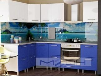 Синяя угловая кухня №1 - Мебельная фабрика «Меон», г. Волжск