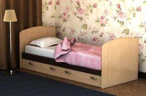 Кровать с ящиками от детской Фрегат 2 - Мебельная фабрика «Лига Плюс»