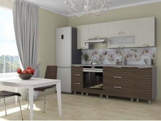 Кухня прямая Мадена Дюна Зебрано светлый - Мебельная фабрика «Веста»