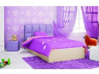 Детская фиолетовая кровать - Мебельная фабрика «Галерея Мебели GM»