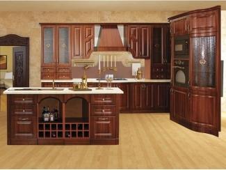 Кухня в коричневом цвете Нова