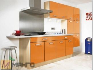 Оранжевая прямая кухня Кира - Мебельная фабрика «Манго»
