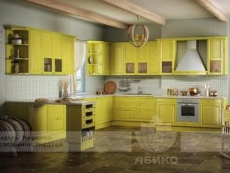 Кухня Корсика Желтая массив - Мебельная фабрика «Абико»