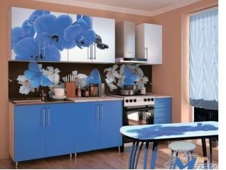 Кухня прямая Орхидея синяя - Мебельная фабрика «Мир Мебели»