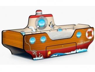 Кровать - Пароходик  Dream Steamer коричневый - Мебельная фабрика «КАРоБАС»
