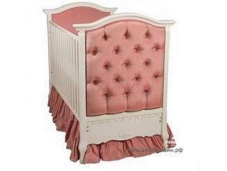 Детская кроватка из массива бука с обивкой велюром Elitii - Мебельная фабрика «МебельЛайн»