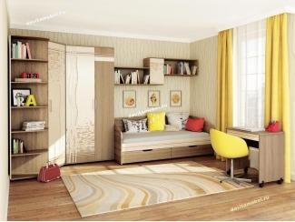 Спальня подростковая Бриз 1 - Мебельная фабрика «Витра»