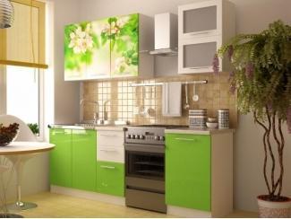 Зеленая кухня Яблоня Фотопечать  - Мебельная фабрика «Меон»