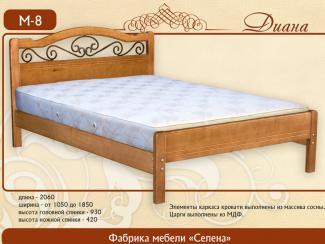 кровать Диана М-8 - Мебельная фабрика «Селена»