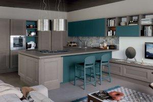 Вариант кухни совмещенной с гостиной - Мебельная фабрика «Командор»