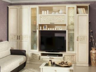 гостиная стенка Александрия кожа ленто - Мебельная фабрика «Любимый дом (Алмаз)»