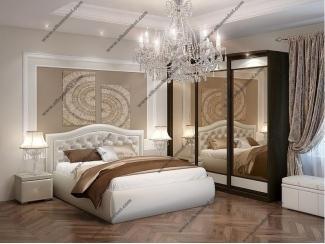 Кровать Верона с тумбой и пуфом - Мебельная фабрика «Эльба-Мебель»