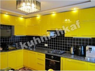 Желтая кухня из мдф  - Мебельная фабрика «Kuhnishkaf», г. Москва