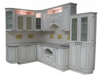 Кухня угловая Патина серебро - Мебельная фабрика «Техсервис»