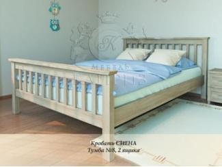 Кровать из массива Сиена - Мебельная фабрика «Каприз»