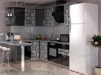 Кухня угловая «Черный тюльпан» - Мебельная фабрика «Ладос-мебель»