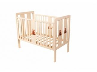 Детская кроватка КТМ КОЛЕСО — МИШКИ - Мебельная фабрика «Папа Карло»