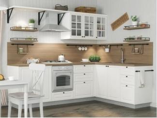 Элегантный белый кухонный гарнитур Шеби - Изготовление мебели на заказ «Кухни ЧУ»