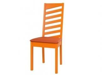 Оранжевый стул из массива - Мебельная фабрика «12 стульев»