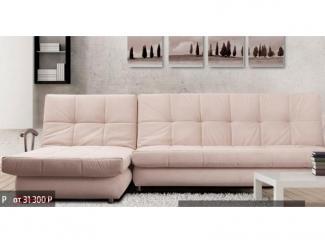 Розовый угловой диван Лондон  - Мебельная фабрика «Паллада», г. Кирово-Чепецк