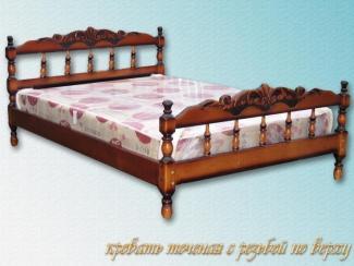Кровать Каролина резьба поверху