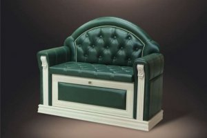 Банкетка Благо 5Б 5.12 4 Карамель Изумруд - Мебельная фабрика «Благо»