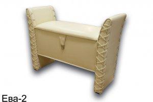 Банкетка для прихожей Ева 2 - Мебельная фабрика «Алрус-Арт»