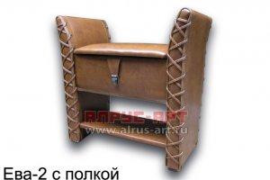 Банкетка для прихожей Ева 2 с полкой - Мебельная фабрика «Алрус-Арт»