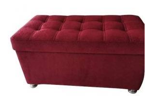 Банкетка с ящиком красная - Мебельная фабрика «Влада»