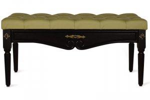 Банкетка Сильвия эко-кожа оливковый/венге - Мебельная фабрика «Мебелик»