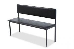 Банкетка со спинкой Кремень - Мебельная фабрика «Металл Мебель»