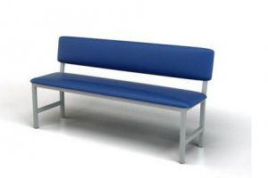 Банкетка со спинкой Нефрит - Мебельная фабрика «Металл Мебель»