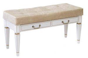 Банкетка Васко В 98Н с ящиком белый ясень/золото - Мебельная фабрика «Мебелик»