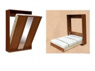 Шкаф-кровать премиум (с зеркалом)  - Мебельная фабрика «МЕБЕЛов»