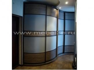 Радиусный шкаф купе для прихожей комнаты - Мебельная фабрика «ТРИ-е»