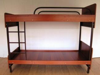 Кровать 2-х ярусная металл. плюс ЛДСП  - Мебельная фабрика «Эксперт»