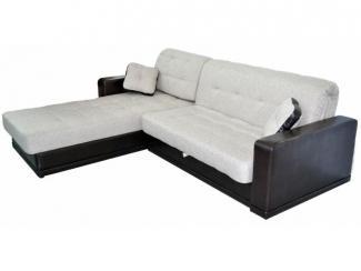 Светлый диван с оттоманкой Кардинал  - Мебельная фабрика «Viktoria»