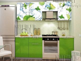 Кухня София 2,1 Лайм (фотопечать) - Мебельная фабрика «Интерьер-центр»