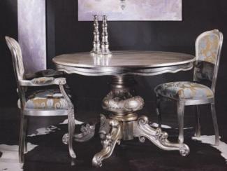 Стул SILVER LEAF серебро/ ткань UPH GENE 3099 COL BLACK - Импортёр мебели «М-Сити (Малайзия)»