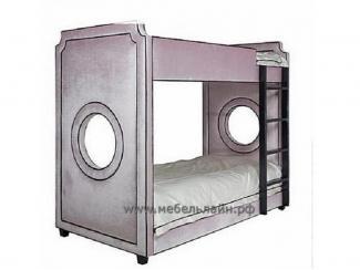 Двухэтажная детская кроватка с обивкой тканью - Мебельная фабрика «МебельЛайн»