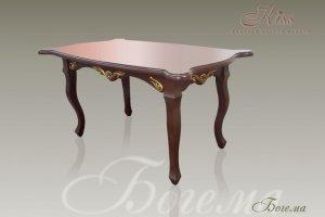 Обеденный стол Богема на изогнутых ногах - Мебельная фабрика «Kiss»