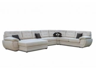 Светлый П-образный диван Магнат 1 - Мебельная фабрика «Пегас», г. Уфа