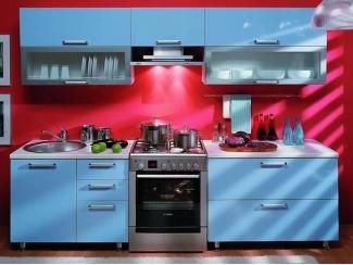 Кухонный гарнитур ЛДСП голубой - Мебельная фабрика «Вся Мебель»