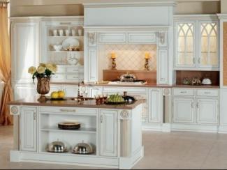 Кухня прямая Британика белая - Мебельная фабрика «Атлас-Люкс»