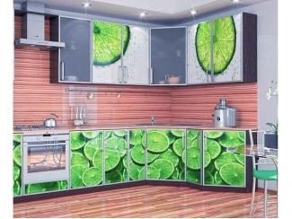 Кухня с фотопечатью Лайм  - Мебельная фабрика «Шкаffыч»