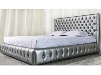 Серебристая кровать Либерти  - Мебельная фабрика «SoftWall»