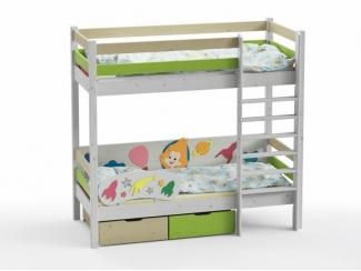 Двухъярусная кровать Незнайка - Мебельная фабрика «GRIFON»